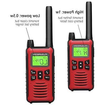 FLOUREON 4 Radios Walkie 22 Channel 3000M 5000M