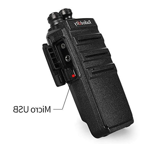 Radioddity GA-2S Walkie Talkies Two Way Radio Micro USB Desktop