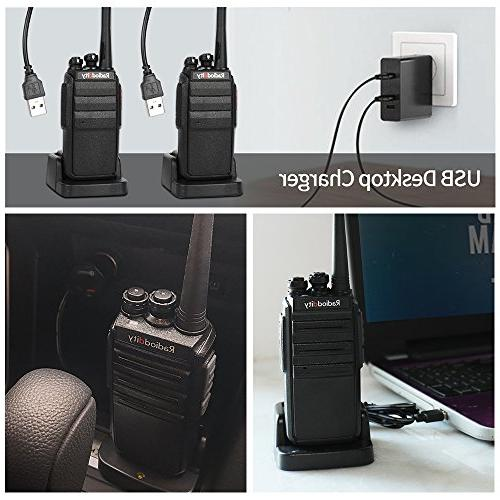 Radioddity GA-2S Walkie Talkies Two Way Micro Charging + USB Desktop + Air Earpiece