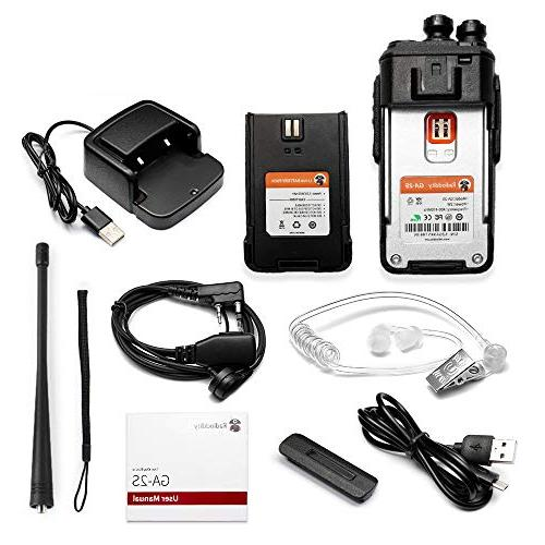 Radioddity Walkie Way Radio Micro USB Air Acoustic Mic,