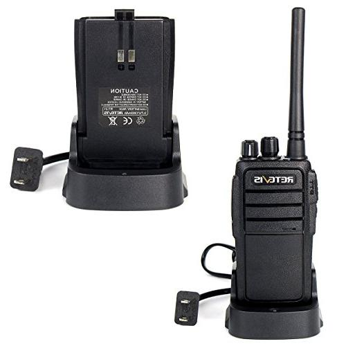 Retevis 777 Way Radio 3W 400 470MHz DCS Earpiece Talkie Radio