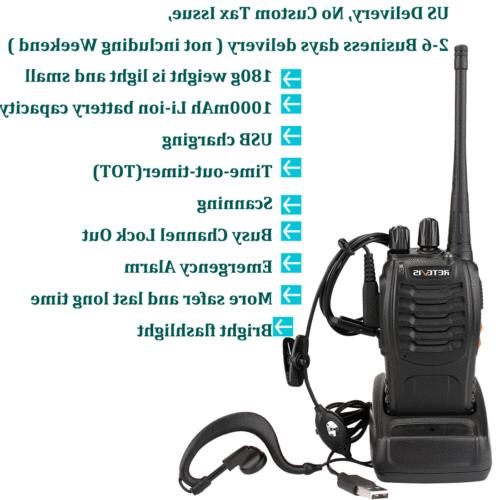 Retevis H777 Walkie two Way UHF handheld 16CH