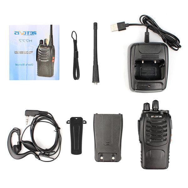 10XRetevis H777 Walkie Talkies 16CH UHF CTCSS/DCS