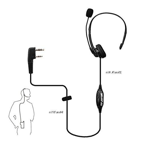 Retevis Headset Cancelling Overhead Compatible Kenwood Baofeng BF-888s H-777 RT27 RT-5R Walkie Talkies