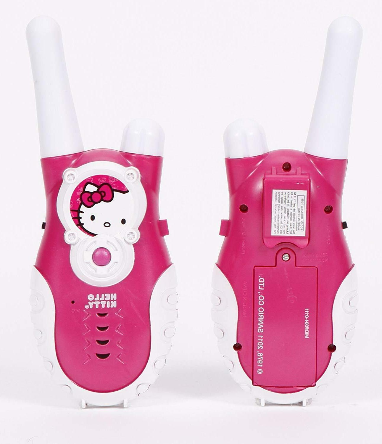 Hello Kitty Push to Talk Walkie Talkies, Pink