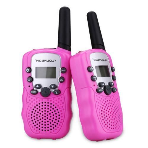 kids gift 2x pink walkie talkies uhf462