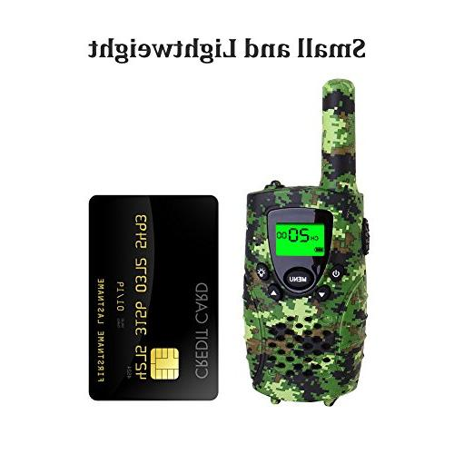 FAYOGOO Walkie Talkies, 22-Channel Range with Flashlight LCD Screen-Best and Toys for Camo