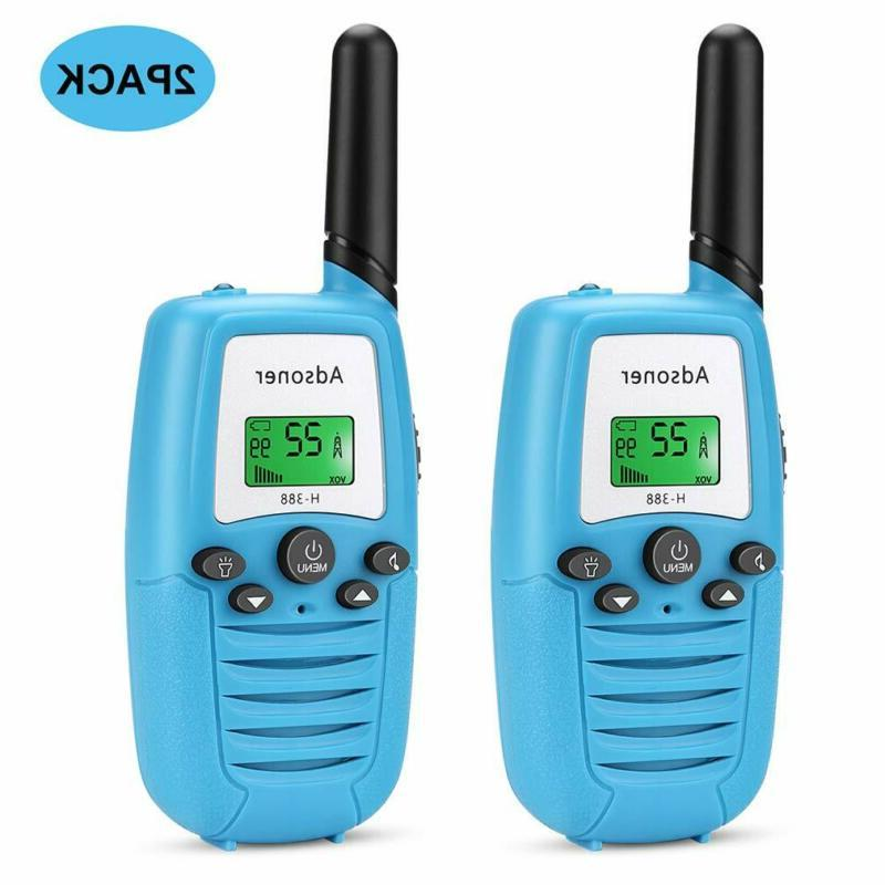 Adsoner Kids Walkie Talkies With Backlit Lcd Display 22 Chan