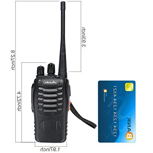Ansoko Walkie Pack Range Rechargeable 2 400-470MHz for Factory Security Com Travel