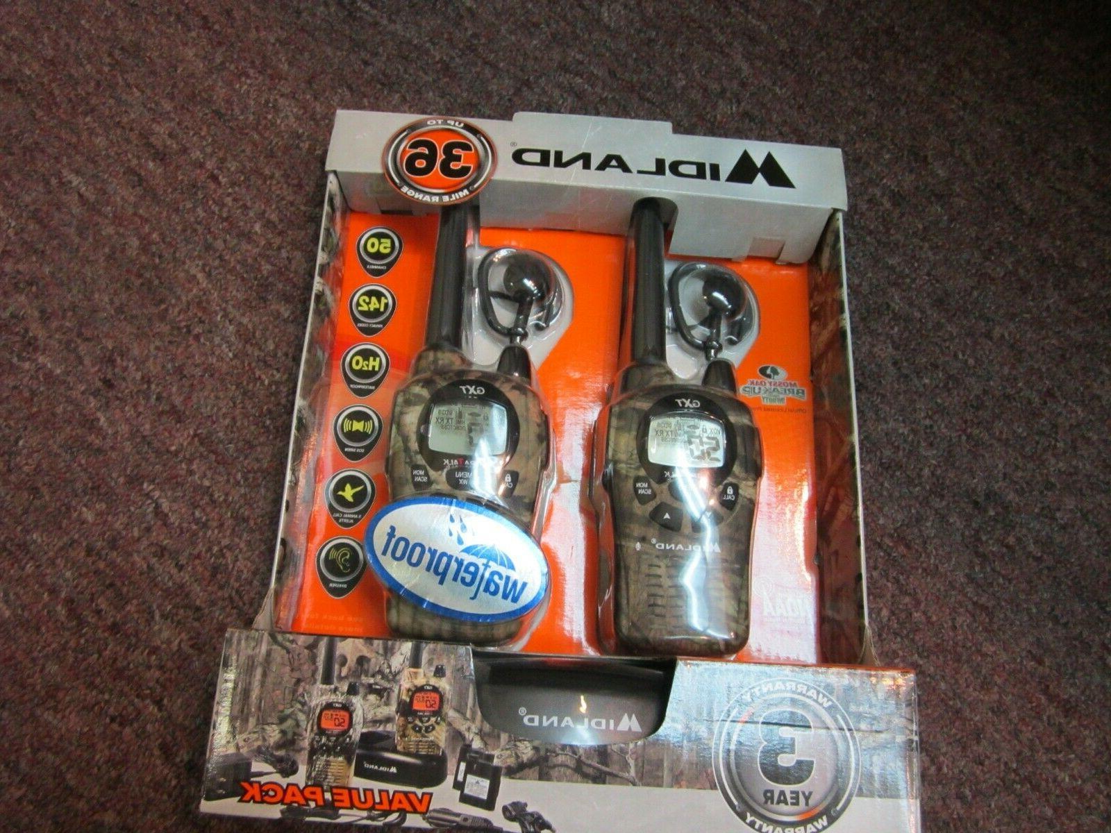 new in box pair gxt1050 walkie talkies