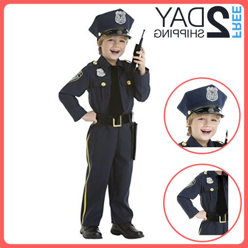 police officer costume kids halloween with walkie