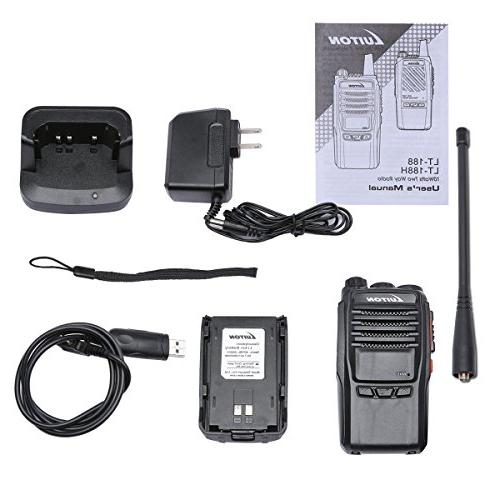 2 UHF Walkie Talkies 10 miles Long Radios By