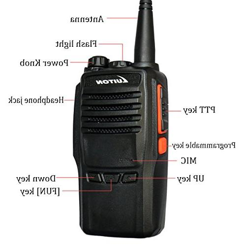 2 Radio UHF Walkie Talkies Long Amateur Radios Luiton