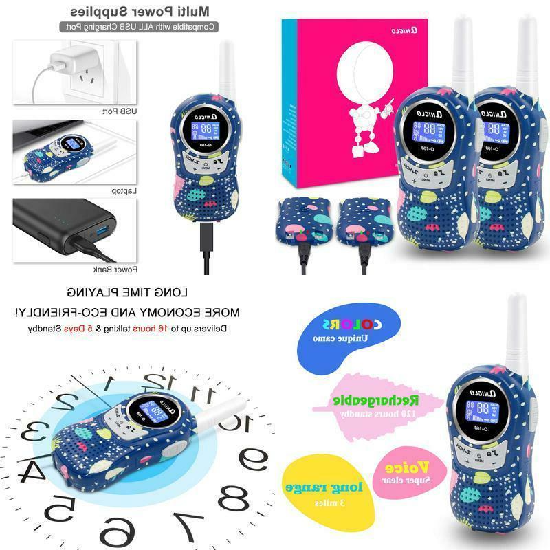 rechargeable kids walkie talkies 22 channel frs