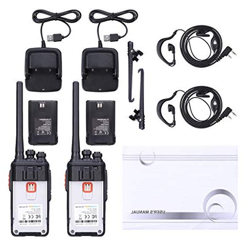 floureon Walkie Two Pack Long Range Distance with and Battery 400-480MHz 16 Interphone