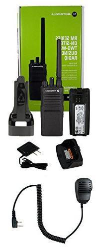 Motorola RMV2080 VHF 2 watt 8 channel radio and Speaker Micr