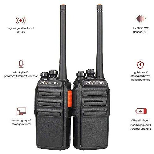 Retevis Two-Way Long Rechargeable Radio Vox Talkies with