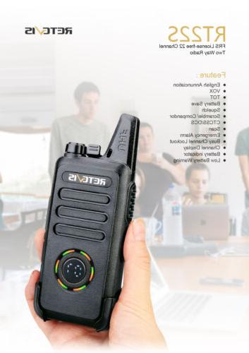 Retevis RT22S 2-Way Rechargeable 22CH Walkie