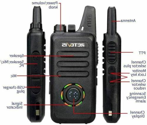 Retevis RT22S Rechargeable 22CH Walkie