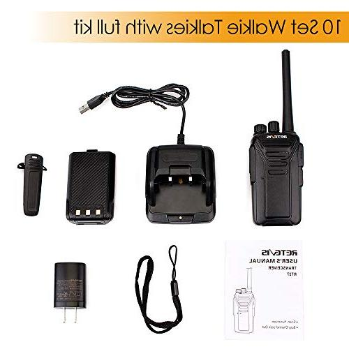 Retevis Walkie Rechargeable Range for Adults Anti-Interference Security Duty Radios