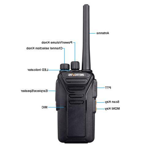Retevis VHF two Radio long range 5CH