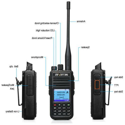 Walkie DMR Digital/Analog Handheld UHF+VHF VOX
