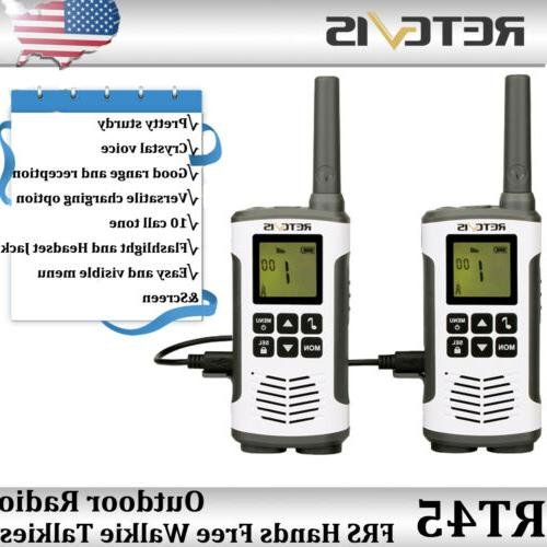 rt45 22ch walkie talkies frs license free