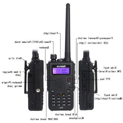 Retevis RT5 UHF/VHF Walkie Talkies 128CH VOX Way US