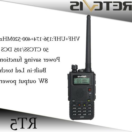 rt5 dual band uhf vhf walkie talkies