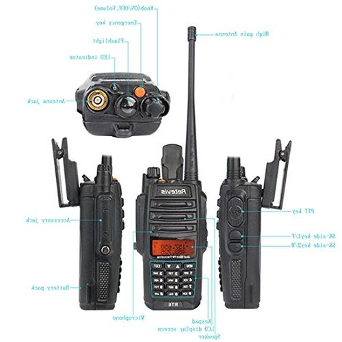 Retevis Walkie IP67 VHF/UHF 2 Way with Earpiece