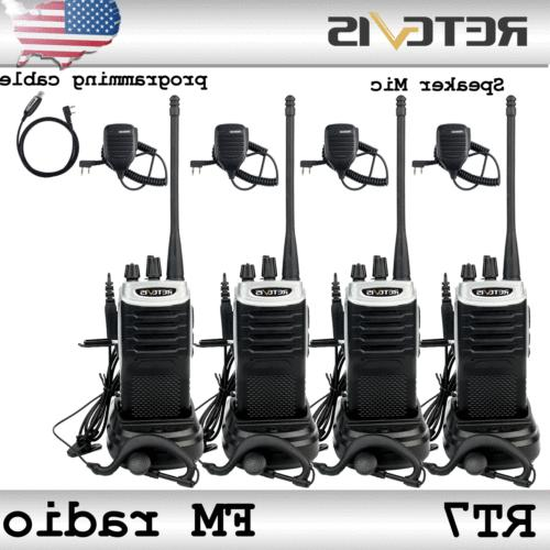 rt7 walkie talkies 2way radio uhf 5w