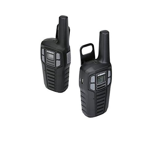 Uniden SX167-2CH 16 Two-Way Radio Walkie Charging Cable, NOAA Channels, Roger Black