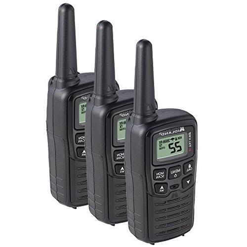 Midland 22 Channel FRS Talkie - to 20 Radio, 38 Privacy & - Black