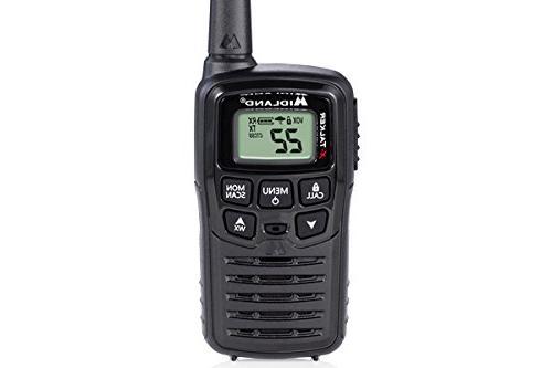 Midland 22 Talkie - Up 20 Mile Range Radio, 38 Privacy Codes & Black