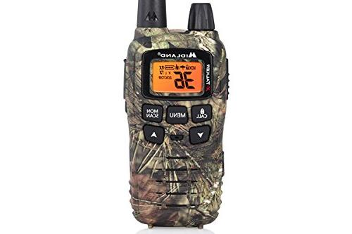 Midland - X-TALKER 36 FRS Radio 32 Mile Range Walkie Talkie, 121 Privacy NOAA Weather Alert