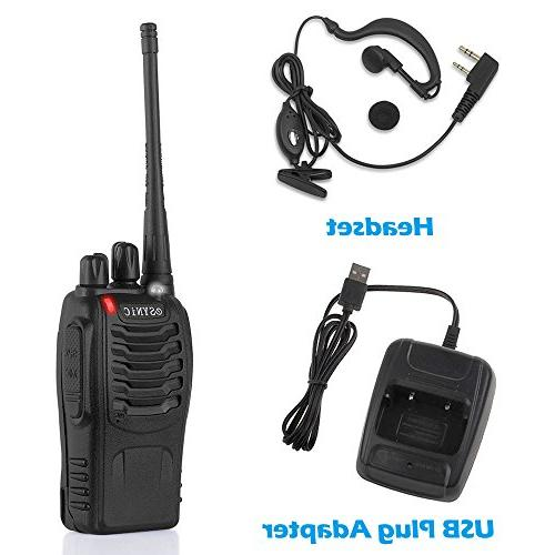 ESYNiC pcs Long Range Radio Cable Walky Talky Flashlight 16CH Single FM Transceiver