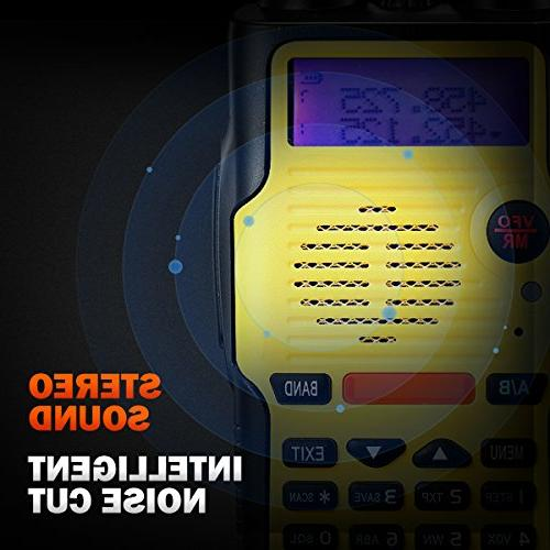 Two Way 8 Watt Battery FCC Dual VHF and 400-520MHz Range Resistant 128 Talkie Earpiece Kit