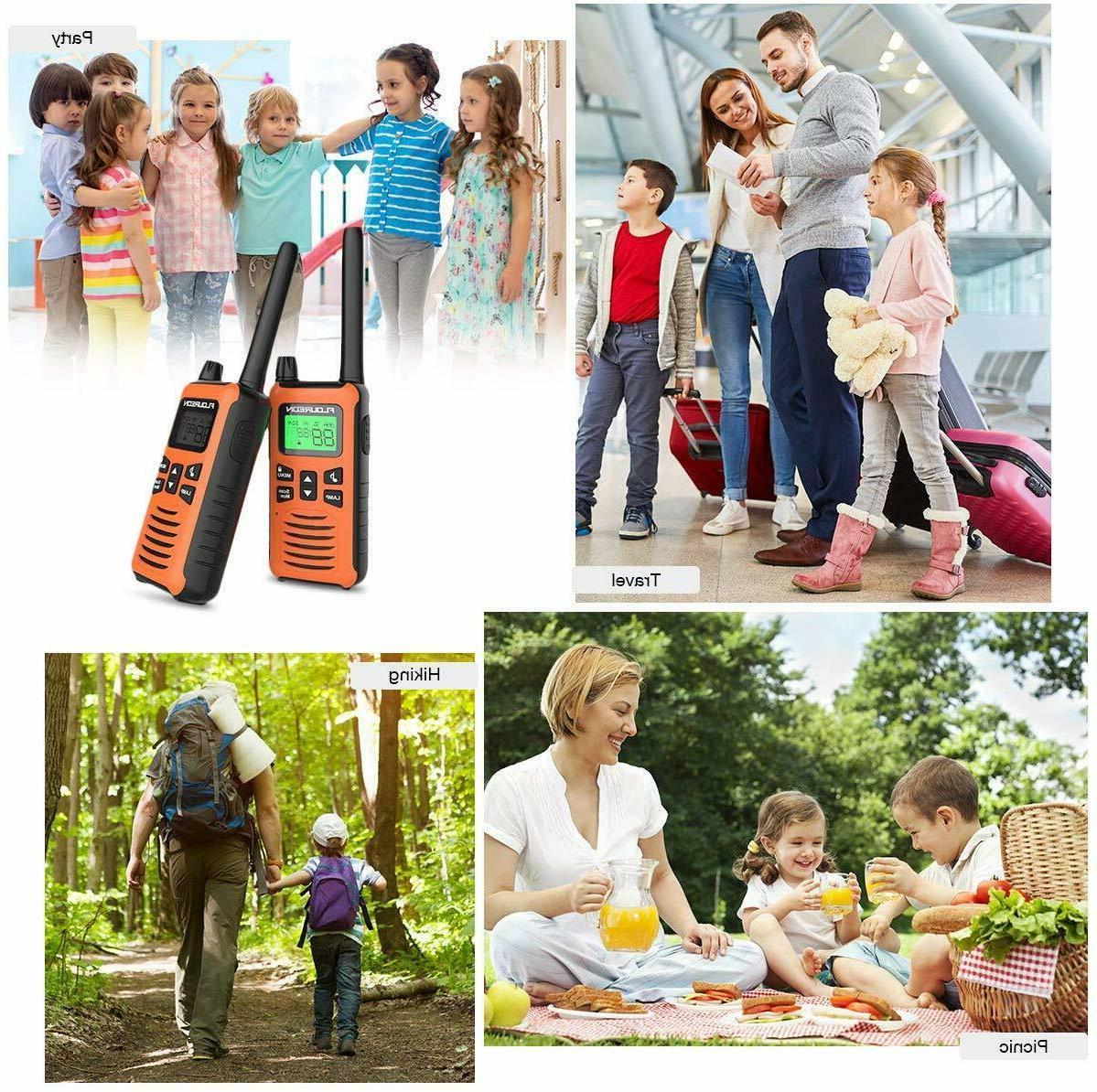 FLOUREON Radios Walkie Talkies Children Rechargeable 22 Channel 2/pk