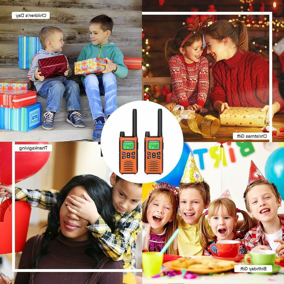 FLOUREON Way Radios Walkie Talkies Children Rechargeable 22 Channel