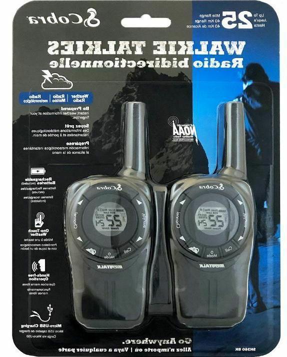 two way walkie talkies 2 radios w