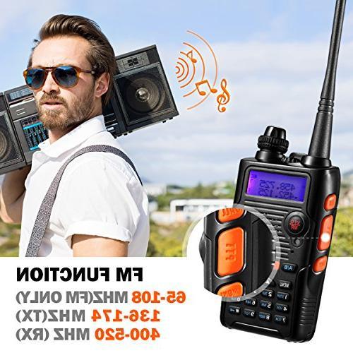 Two Way Watt 2800mAh Battery VHF 136-174MHz UHF 400-520MHz Long Resistant Talkie Kit
