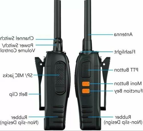 ESYNiC Talkies pcs Two-Way Radio Cable