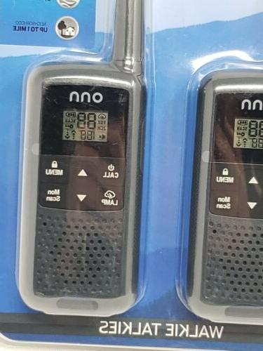 Onn Walkie 2 Pack, 22 Channels, Up To Batteries,