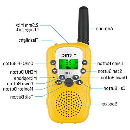 Tintec Talkies, 22 way Radio with Backlit LCD Miles Range for