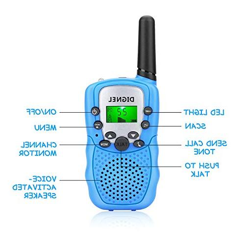 Walkie Talkies, Talkies for Kids, Pack Radio Toy, 3 Range Walkie for Outside Adventures, Camping, Hiking