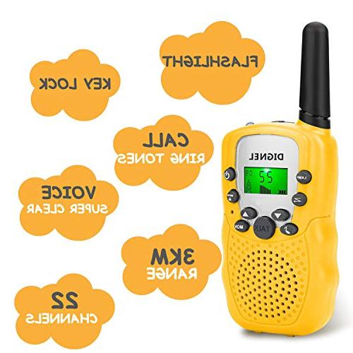 Walkie Walkie Talkies Pack 22 Channels Radio Toy, Range Kids Hiking