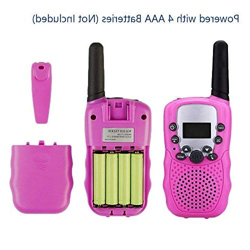 TangDirect 2 Walkie Talkies, Channels Way Radio Toy Backlit LCD Flashlight, Miles for Kids, Outdoor Adventures,