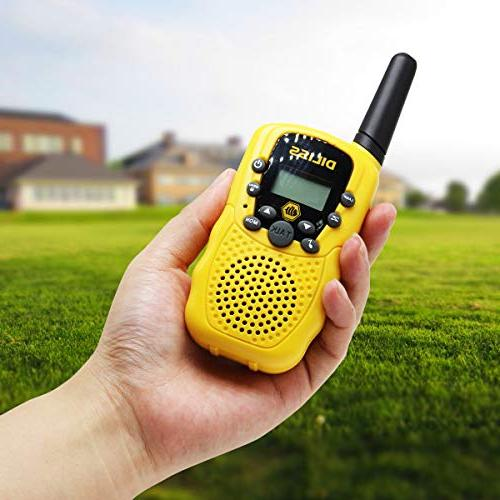 DilissToys Walkie Talkies for Kids Talkies for Adults Kids 2 Way Talkies Built Light 2 Yellow