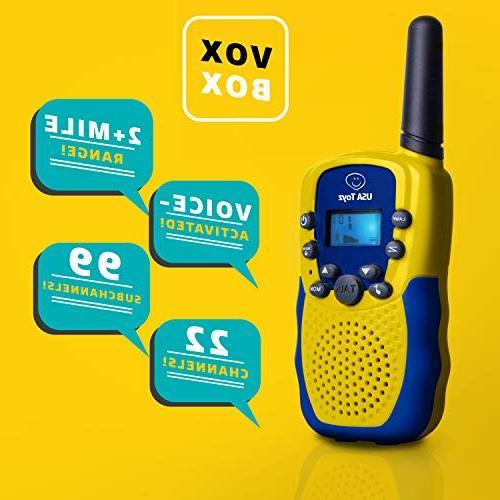 Walkie Kids - Box Kids Walkie Talkies Boys or Voice Long Outdoor Walkie