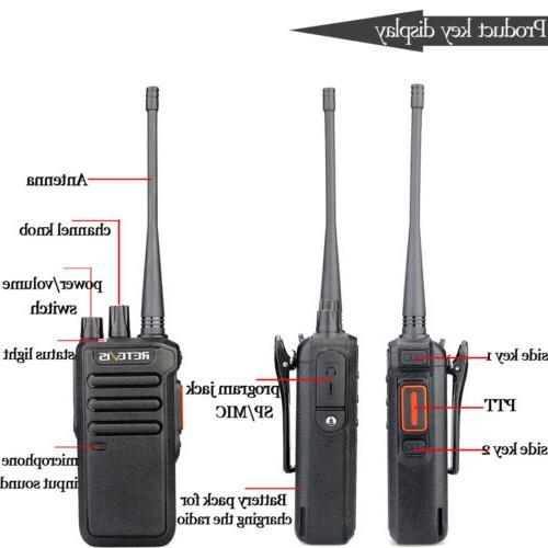 Walkie Talkies DMR Digital/Analog UHF 1400mAh VOX Retevis
